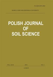 Okładka: Polish Journal of Soil Science vol. XLIX, NO. 2/2016